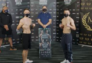 Jay Harris vs. Ricardo Sandoval fight card weights from Bolton, England | Boxen247.com (Kristian von Sponneck)