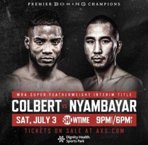 Colbert and Nyambayar will fight for the WBA Interim belt this Saturday    Boxen247.com (Kristian von Sponneck)