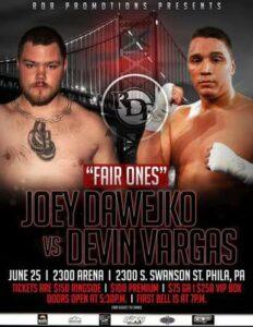 Joey Dawejko Faces Devin Vargas in Philadelphia on Friday, June 25 | Boxen247.com