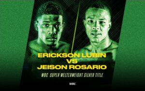 Eliminatory WBC bout: Lubin vs. Rosario in Atlanta June 26 | Boxen247.com