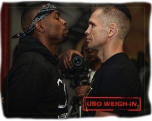 Yuri Foreman & Jimmy Williams weigh-in ahead of tonight   Boxen247.com