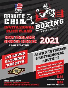 Granite Chin Invitational matches announced for Pro-Am card June 26   Boxen247.com