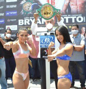 "Lourdes ""Little Lulú"" Juárez & Diana ""La Bonita"" Fernández make weight | Boxen247.com (Kristian von Sponneck)"