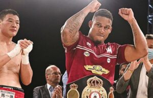 Ryad Merhy knocked out Zhaoxin Zhang and retained his WBA belt   Boxen247.com (Kristian von Sponneck)