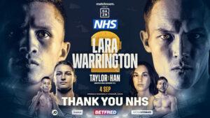 Matchroom donate 200 Lara vs. Warrington 2 tickets to the NHS | Boxen247.com (Kristian von Sponneck)