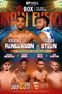 Kalvin Henderson vs. Isaiah Steen fight card weights & quotes | Boxen247.com (Kristian von Sponneck)