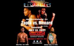 Christian Tapia vs. Mason Menard fight card weights from Atlantic City   Boxen247.com (Kristian von Sponneck)
