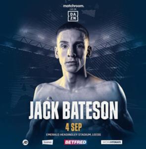 Jack Bateson returns to action in Leeds on September 4   Boxen247.com (Kristian von Sponneck)