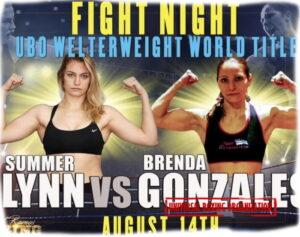Summer Lynn faces Brenda Gonzales for UBO title in Iowa on August 14   Boxen247.com (Kristian von Sponneck)