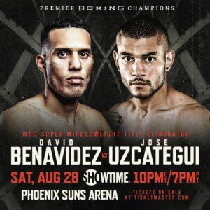Benavidez vs. Uzcategui high stakes WBC eliminatory August 28   Boxen247.com (Kristian von Sponneck)