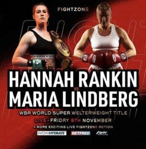 Hannah Rankin faces Maria Lindberg for the WBA world title on November 5   Boxen247.com (Kristian von Sponneck)