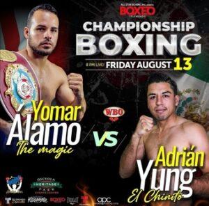 Yamar Alamo vs. Adrian Yung fight card weights from Florida, USA | Boxen247.com (Kristian von Sponneck)