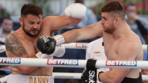 Johnny Fisher batters Danny Whitaker at Fight Camp week 2 in England   Boxen247.com (Kristian von Sponneck)