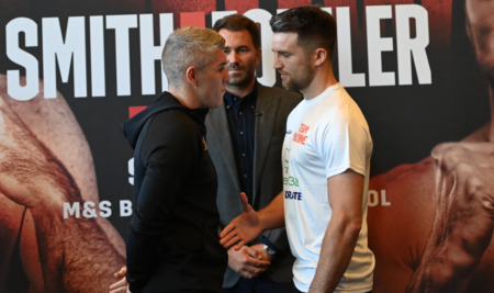 Liam Smith refuses handshake with Anthony Fowler at press conference | Boxen247.com (Kristian von Sponneck)