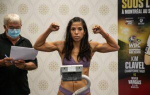 "Clavel vs. Vargas ""Boxing Under the Stars"" weights in Montreal, Canada   Boxen247.com (Kristian von Sponneck)"
