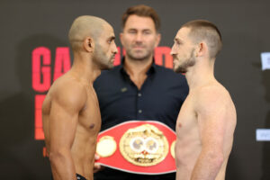Jazza Dickens & Kid Galahad weigh-in ahead of tomorrow (& quotes)   Boxen247.com (Kristian von Sponneck)