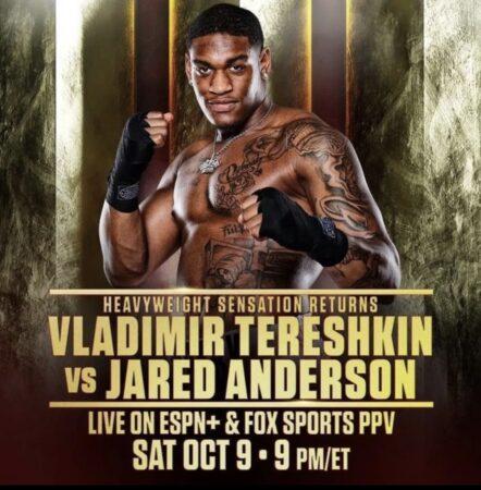 Jared Anderson faces Vladimir Tereshkin on Fury-Wilder undercard Oct | Boxen247.com (Kristian von Sponneck)