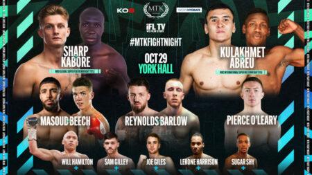 Archie Sharp headlines MTK Fight Night at York Hall on October 29 | Boxen247.com (Kristian von Sponneck)