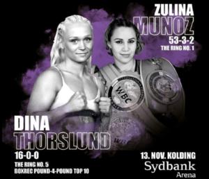 Dina Thorslund faces Ring magazine's #1 Zulina Munoz November 13 | Boxen247.com (Kristian von Sponneck)