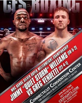 Jimmy Williams vs. Greg Vendetti fight weights from Hartford, Connecticut | Boxen247.com (Kristian von Sponneck)