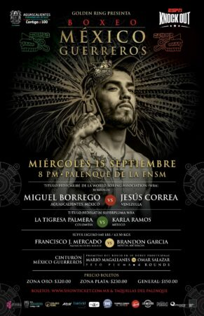 Miguel Borrego headlines against Jesus Correa in Mexico this Wednesday | Boxen247.com (Kristian von Sponneck)