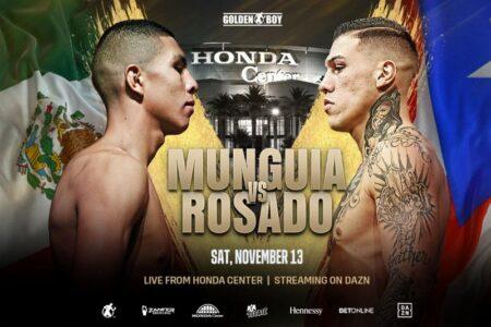 Munguia vs. Rosado set to collide at Honda Centre, Anaheim, California   Boxen247.com (Kristian von Sponneck)