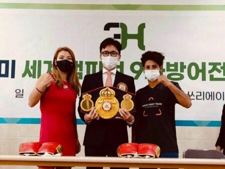 Hyun Mi Choi & Simone Da Silva make weight in Seoul, South Korea | Boxen247.com (Kristian von Sponneck)