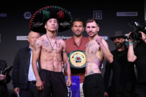 Maxi Hughes and Jack Bateson weigh in ahead of tomorrow night | Boxen247.com (Kristian von Sponneck)