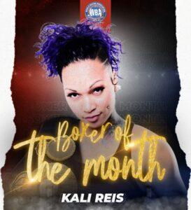Kali Reis is WBA female boxer of the month | Boxen247.com (Kristian von Sponneck)