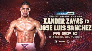 Xander Zayas vs. Jose Luis Sanchez added to Valdez vs. Conceição card   Boxen247.com (Kristian von Sponneck)