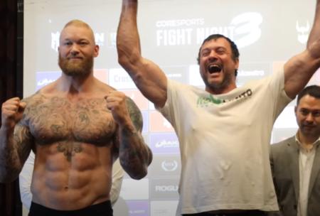 Thor Bjornsson vs. Devon Larratt full fight card weights from Dubai | Boxen247.com (Kristian von Sponneck)