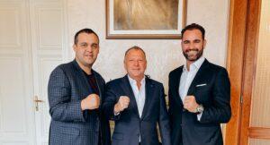 Umar Kremlev holds meeting with Marius Viser and Vlad Marinescu | Boxen247.com (Kristian von Sponneck)