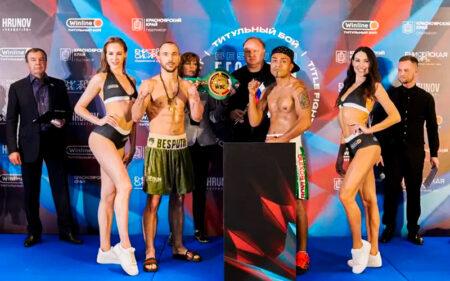 Alexander Besputin & Mauricio Pintor weigh-in ahead of Saturday | Boxen247.com (Kristian von Sponneck)