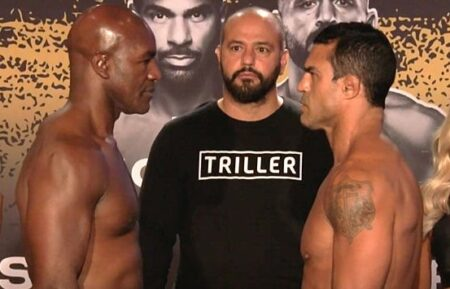 Evander Holyfield vs. Vitor Belfort Triller fight card weights from Florida | Boxen247.com (Kristian von Sponneck)