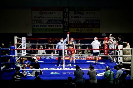 Hyun Mi Choi successfully defended world title against Simone Da Silva | Boxen247.com (Kristian von Sponneck)