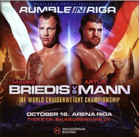 Mairis Briedis defends his IBF title against Artur Mann on October 16 | Boxen247.com (Kristian von Sponneck)