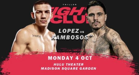 Lopez vs. Kambosos Jr. on October 4 at Madison Square Garden, USA   Boxen247.com (Kristian von Sponneck)