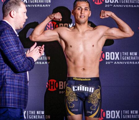 Ja'Rico O'Quinn vs. Saul Sanchez 'Rumble in the Rose District' weights   Boxen247.com (Kristian von Sponneck)