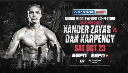 Xander Zayas faces Dan Karpency on Herring vs. Stevenson card Oct 23   Boxen247.com (Kristian von Sponneck)