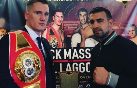 Massey-Laggoune Nov. 26 IBO Cruiserweight Title press conference video | Boxen247.com (Kristian von Sponneck)