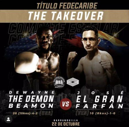 Dewayne Beamon faces José Farfán this Friday in Barranquilla, Colombia | Boxen247.com (Kristian von Sponneck)