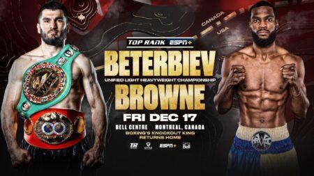 Artur Beterbiev defends WBC title against Marcus Browne on December 17 | Boxen247.com (Kristian von Sponneck)