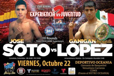 Jose Soto faces Ganigan Lopez for the WBA Fedecentro belt this Friday | Boxen247.com (Kristian von Sponneck)