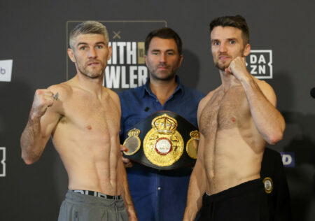 Liam Smith vs. Anthony Fowler fight card weights from Liverpool, England | Boxen247.com (Kristian von Sponneck)