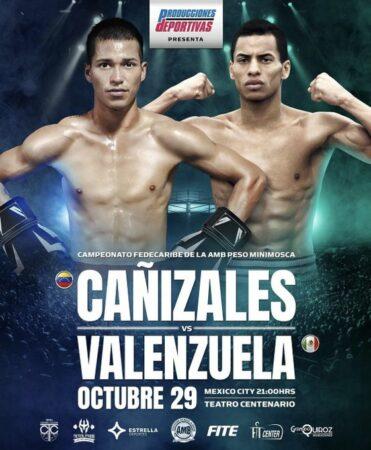 Cañizales faces Valenzuela for the WBA Fedecaribe belt in Mexico City   Boxen247.com (Kristian von Sponneck)