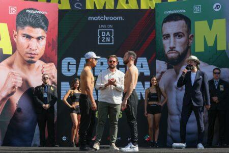 Mikey Garcia vs. Sandor Martin weights from Fresno, California   Boxen247.com (Kristian von Sponneck)
