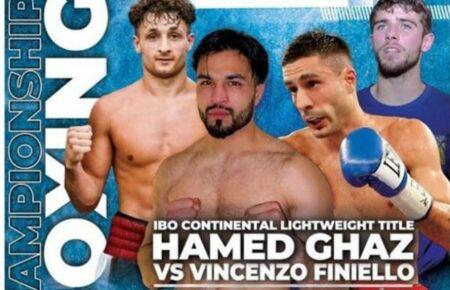 Hamed Ghaz faces Vincenzo Finiello on October 23 in Sheffield, England   Boxen247.com (Kristian von Sponneck)