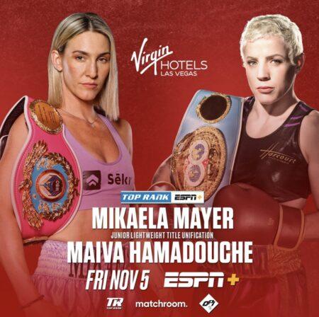 Mikaela Mayer faces Maiva Hamadouche in title unification November 5 | Boxen247.com (Kristian von Sponneck)