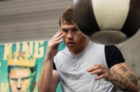 Canelo Alvarez vs. Caleb Plant - virtual workout quotes & photos | Boxen247.com (Kristian von Sponneck)
