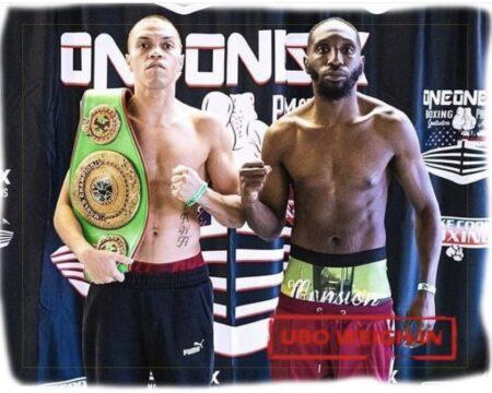 Echevarria vs. Conquest UBO World Title weights from Alabama, USA | Boxen247.com (Kristian von Sponneck)